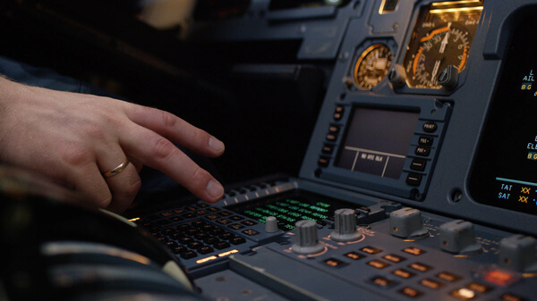 Panel Switches on Flight Deck